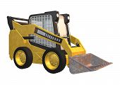 stock photo of skid-steer  - 3D digital render of a skid steer loader isolated on white background - JPG