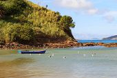 Beach Ferradura Sea, Sand, Rock, Boat, Seagull  In Búzios Near Rio De Janeiro