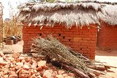 A Typical House In The Village Of African Pomerini - Tanzania - Africa