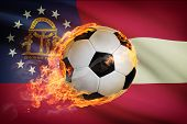 Soccer Ball With Flag On Background Series - Georgia