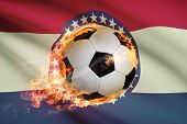 Soccer Ball With Flag On Background Series - Missouri
