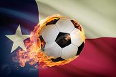 Soccer Ball With Flag On Background Series - Texas