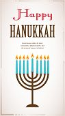 stock photo of hanukkah  - Happy Hanukkah greeting card design - JPG