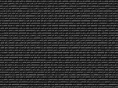 Flat binary code screen black