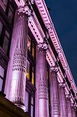 picture of ionic  - facade of a large building decorated with Ionic columns - JPG