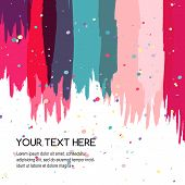 Colorful Abstract Watercolor Brush Background, Vector Template