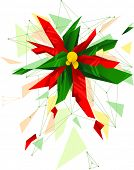 Abstract Illustration Featuring a Poinsettia