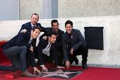 LOS ANGELES - OCT 9:  New Kids On The Block at the New Kids On the Block Hollywood Walk of Fame Star Ceremony at Hollywood Boulevard on October 9, 2014 in Los Angeles, CA