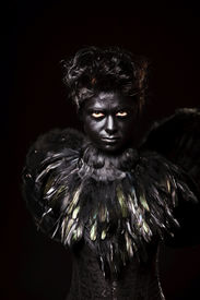 picture of creatures  - Woman with harpy makeup  - JPG