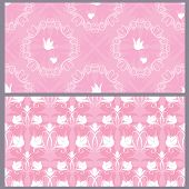pic of ring-dove  - Set of wedding seamless pattern  - JPG