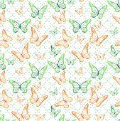 Colorful Butterflies Seamless Pattern