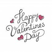 Happy Valentine's day handmade calligraphy