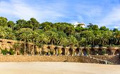 pic of gaudi barcelona  - Square of Nature in the Park Guell  - JPG