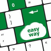 Easy Way Button On The Keyboard Close-up