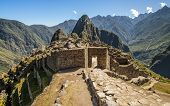 Machu Picchu entrance in ruined city