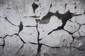 Concrete cracked wall as a grunge background