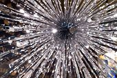 pic of chandelier  - Closeup Fashionable of silver shiny modern chandelier - JPG