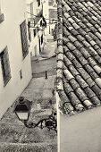 picture of costa blanca  - High angle take of a small street in Altea old town Costa Blanca Spain - JPG