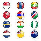 Set circle icon  Flags of world