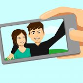 Couple Selfie By Phone