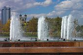 foto of banquette  - image of many fountain on street at day - JPG