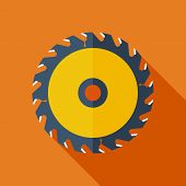 Modern flat design concept icon. Vector illustration.Saw circula