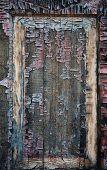 Old, Cracked Wooden Frame Windows