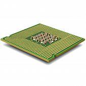 Computer micro processor. Vector.