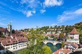 View On The Bridge In Berne