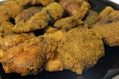 stock photo of dainty  - Delicious dainty fried fish eggs - JPG