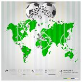 Football Tournament Sport Infographic Background
