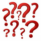 Red Question Marks Signs