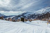 pic of italian alps  - Ski Slope near Madonna di Campiglio Ski Resort - JPG