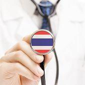 National Flag On Stethoscope Conceptual Series - Tanzania