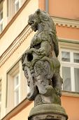 Heraldic Lion With Escutcheon