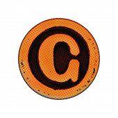 Grunge Font - Letter C