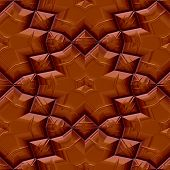 Seamless Chocolate Floral Pattern