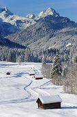 landscape in Bavaria at winter