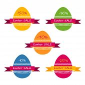 Tags template for easter sale