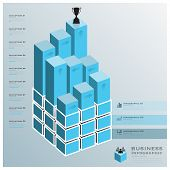 Cube Bar Business Infographic