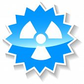 Nuclear blue icon