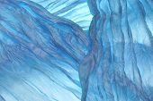 Blue Wavy Fabric Texture Background
