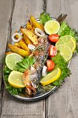 Baked Fish With Fresh Vegetable