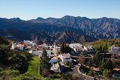 View Of Mountain Village Artenara In Gran Canaria