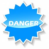 Danger blue icon