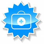 Doctor bag blue icon