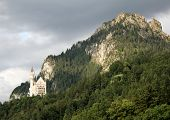 Bad weather over Neuschwanstein Castle
