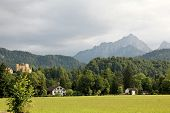 Mountain landscape with Hohenschwangau Castle