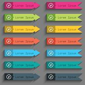 Photo Flash Sign Icon. Lightning Symbol. Set Of Color Buttons. Vector