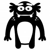 Vector Cartoon Funny Monster Icon Character Isolated